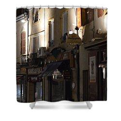 Village Nightscape Shower Curtain