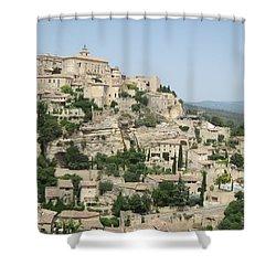 Village Of Gordes Shower Curtain by Pema Hou