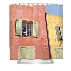 Village Of Roussillon France Shower Curtain by Pema Hou