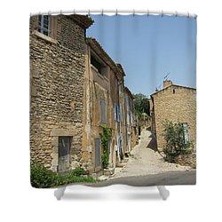 Village Road Shower Curtain by Pema Hou