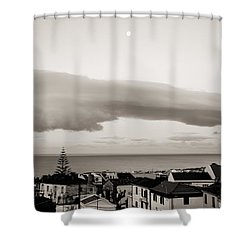 Village Rooftops At Sunrise Shower Curtain