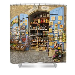 Village Shop Display Shower Curtain by Pema Hou
