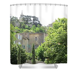 Village View Shower Curtain by Pema Hou