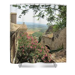 Shower Curtain featuring the photograph Village Vista by Pema Hou