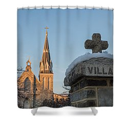 Villanova Wall And Chapel Shower Curtain