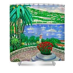 Villefranche Sur Mer---cote-d'azur Shower Curtain by Ronald Haber