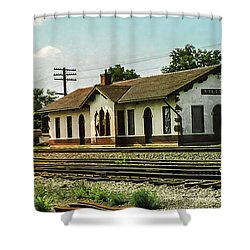 Villisca Train Depot Shower Curtain