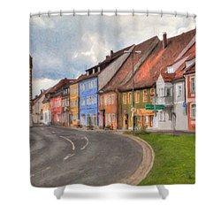Vilseck Marktplatz Shower Curtain