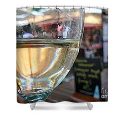 Vin Blanc Shower Curtain by France  Art