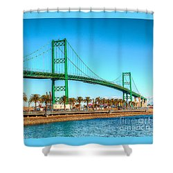 Vincent Thomas Bridge Shower Curtain