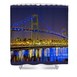 Vincent Thomas Bridge - Nightside Shower Curtain