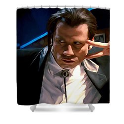 Vincent Vega Shower Curtain