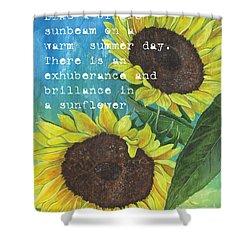 Vince's Sunflowers 1 Shower Curtain by Debbie DeWitt