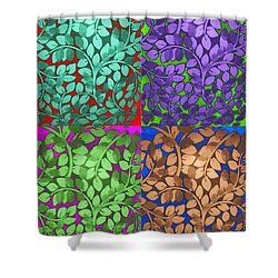 Vine Abstract Shower Curtain by Joan  Minchak