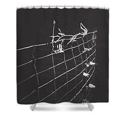 Vine On A Fence Shower Curtain