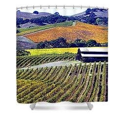 Vineyard 35 Shower Curtain by Xueling Zou