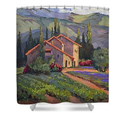 Vineyard And Lavender In Provence Shower Curtain