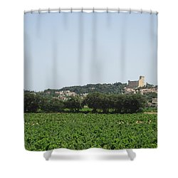 Vineyard In Provence Shower Curtain by Pema Hou