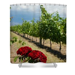 Vineyard Rose Shower Curtain