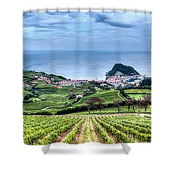 Vineyards By The Sea Shower Curtain