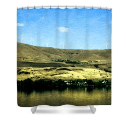 Vineyards On The Columbia River Shower Curtain