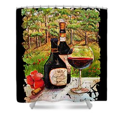 Vino Shower Curtain