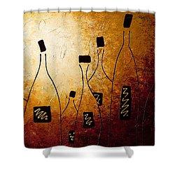 Vins De France Shower Curtain by Carmen Guedez