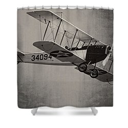 Vintage 1917 Curtiss Jn-4d Jenny Flying  Shower Curtain