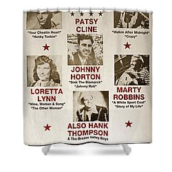 Vintage 1953 Grand Ole Opry Poster Shower Curtain