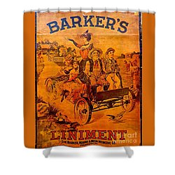 Vintage Ad Barker's Liniment Shower Curtain