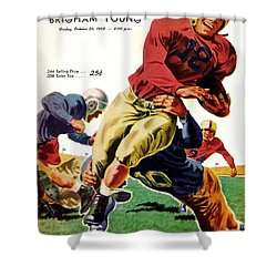 Vintage American Football Poster Shower Curtain