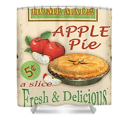 Vintage Apple Pie Sign Shower Curtain by Jean Plout