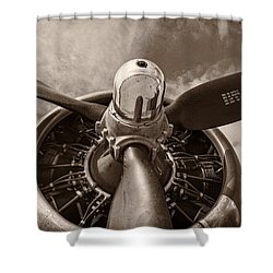 Vintage B-17 Shower Curtain