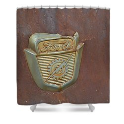 Vintage Badge Shower Curtain