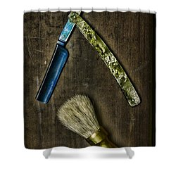 Vintage Barber Tools Shower Curtain by Paul Ward