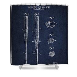 Vintage Baseball Bat Patent From 1939 Shower Curtain