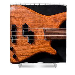 Vintage Bass Guitar Body Shower Curtain