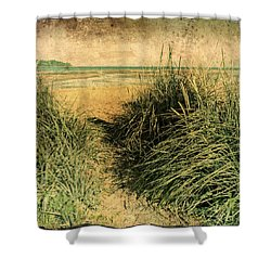 Vintage Beach  Shower Curtain