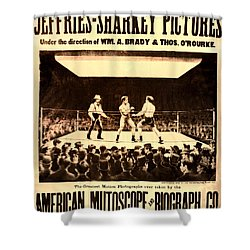 Vintage Boxing Movie Poster Shower Curtain by Bill Cannon