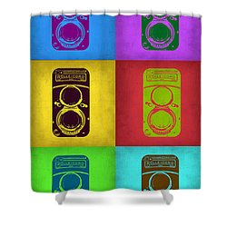 Vintage Camera Pop Art 2 Shower Curtain