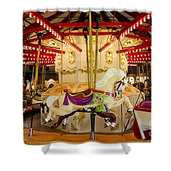 Vintage Carousel Shower Curtain