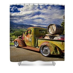 Vintage Chevy Truck At Oliver Twist Winery Shower Curtain