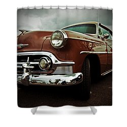 Shower Curtain featuring the photograph Vintage Chrysler by Gianfranco Weiss