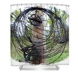 Vintage Clothesline Shower Curtain by Will Borden