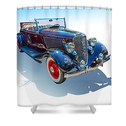 Shower Curtain featuring the photograph Vintage Convertible by Gianfranco Weiss