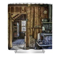 Vintage Cracker Kitchen Shower Curtain by Lynn Palmer