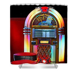 Vintage Diner Shower Curtain by Nikolyn McDonald