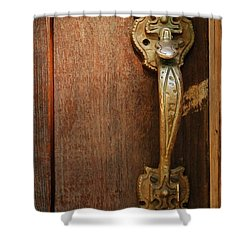 Vintage Door Handle Shower Curtain