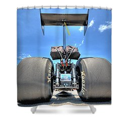 Shower Curtain featuring the photograph Vintage Drag Racer by Gianfranco Weiss