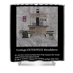 Vintage Enterprise Woodstove Shower Curtain by Barbara Griffin